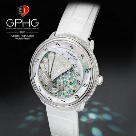 Модель Peacock для Fabergé, завоевавшая награду как лучшие женские часы в 2015 году /// Peacock timepiece by Fabergé, best ladies' watch in 2015