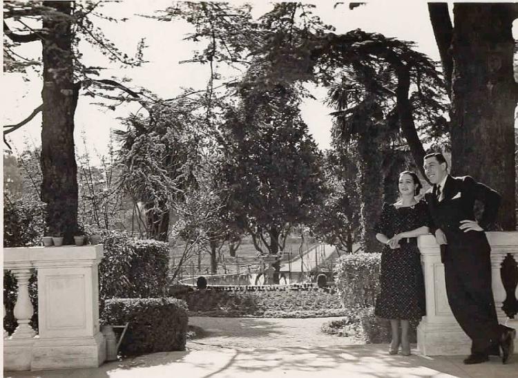 Fernandel avec sa femme Henriette