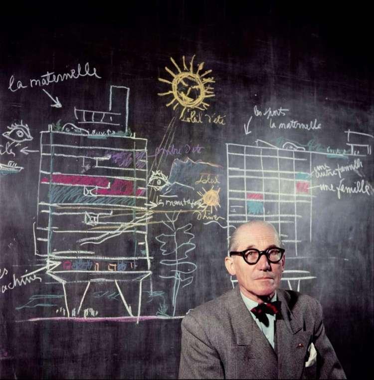 La Cité Radieuse en projet par Le Corbusier